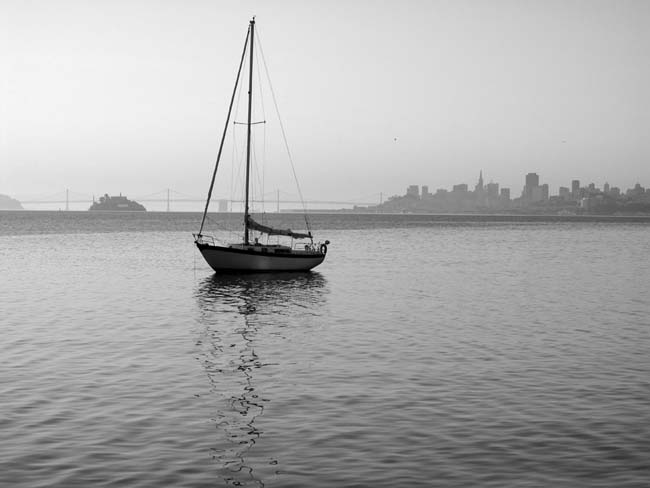 Sausalito Sailboat -©- photo by Max Clarke
