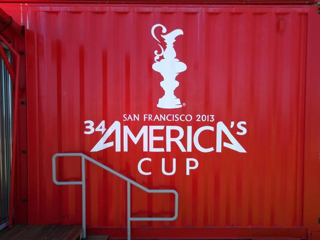 Red Container America's Cup Park -©- photo by Max Clarke