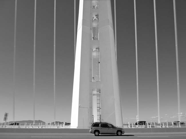 White Tower and SUV -©- photo by Max Clarke