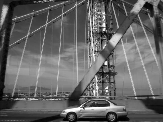 Car and New Tower -©- photo by Max Clarke