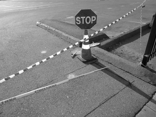 Stop Sign Caution Sign Candy Cane © photo by Max Clarke