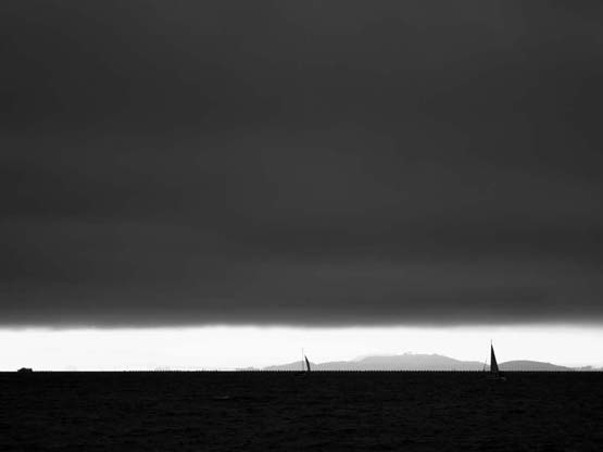 Boats on the Bay Under Clouds - Max Clarke
