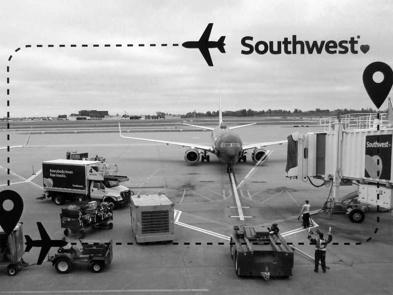 16 Southwest 737 being prepared for Oakland Flight - Max Clarke