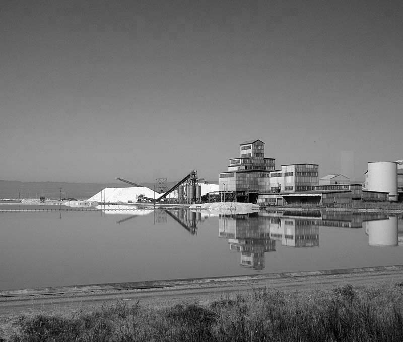 SALT PONDS AND PROCESSING CENTER - bw one - max clarke