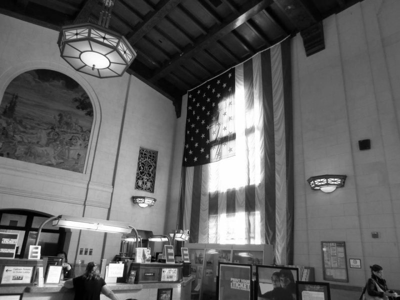 Interior SAN JOSE DIRIDON station - bw one - max clarke