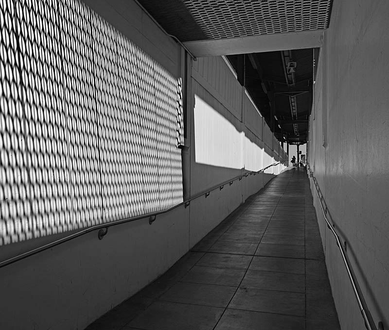 Ramp to the Amtrak Platform - bw one - max clarke