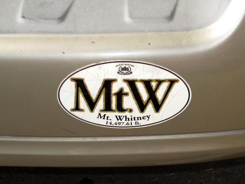 Mt. Whitney Bumper Sticker - Max Clarke