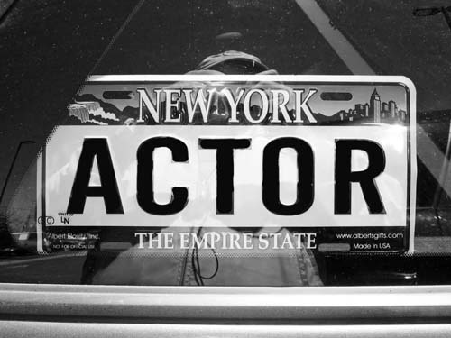 Novelty ACTOR plate seen in car window - Max Clarke