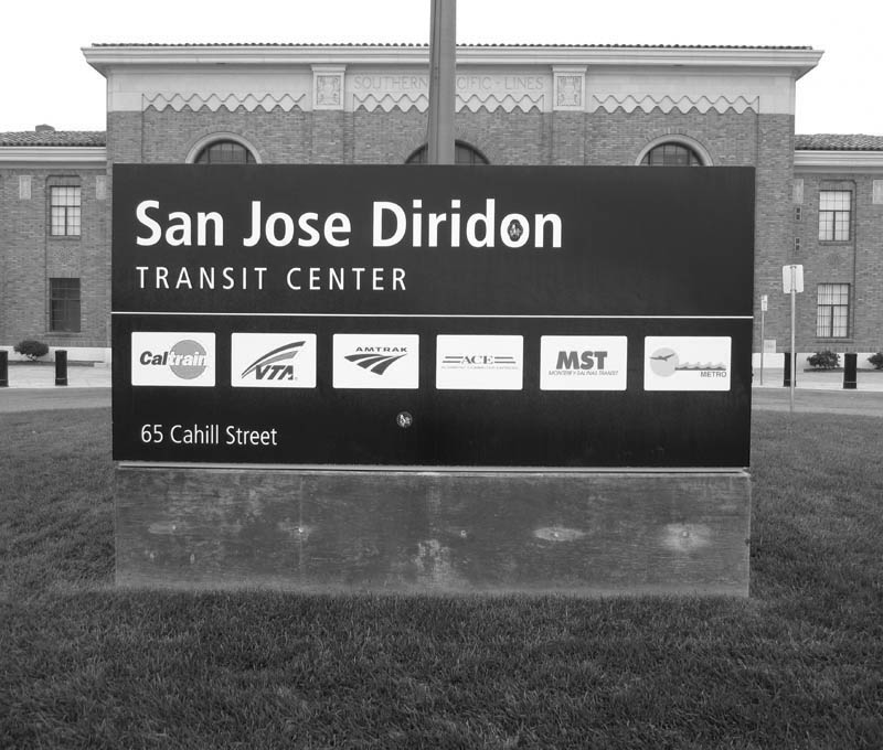 DIRIDON station San Jose from 2012 - bw one - max clarke
