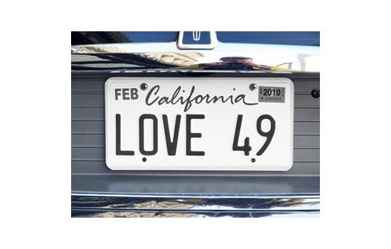 Love 49 plate - Max Clarke