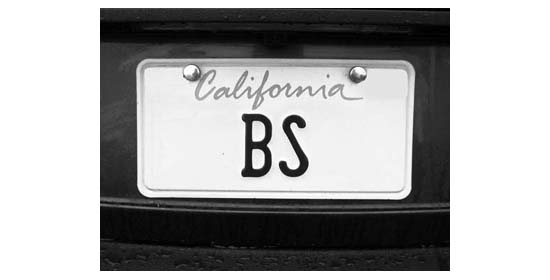 License plate BS