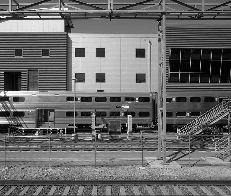 Caltrain Yard San Jose - bw one - max clarke